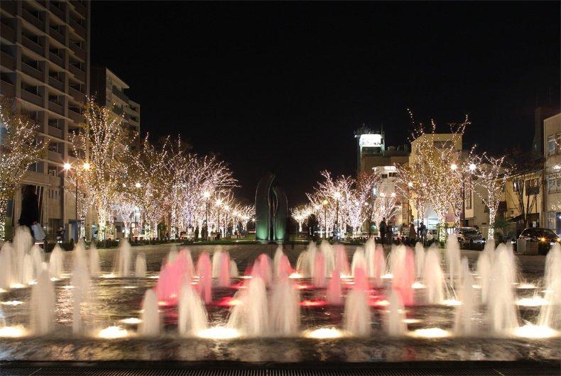 Công viên Minato cùng với ánh sáng Illumination