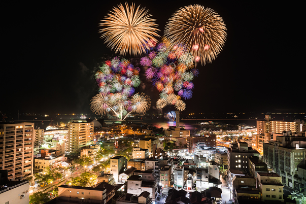 KAGOSHIMA KINKO BAY SUMMER NIGHT FIREWORKS EXHIBITION