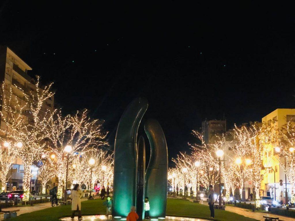Top những địa điểm ngắm đèn ngay trong thành phố Kagoshima.